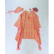 Two Feet Orange-Pink Willow Tamarind Cotton Kaftan